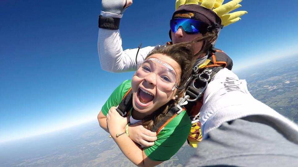 tandem skydiving pictures taken near st petersburg florida