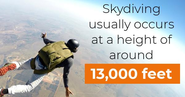 jumper having fun at skydive florida