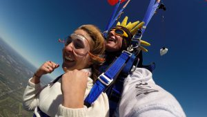 Tandem skydive take less than an hour of training and once you're off the ground, we don't set you free alone, you are attached to one of our instructors, as safety is our first priority.